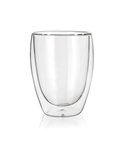Stiklinė su dvigubomis sienelėmis 1vnt 350ml