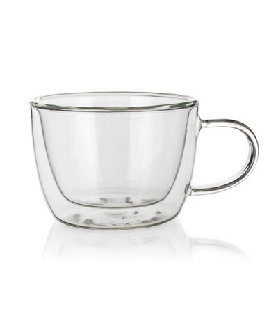 Stiklinis puodelis su dvigubomis sienelėmis