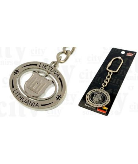 Metalinis raktų pakabukas,VytisGedimino
