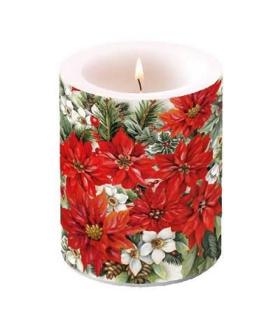 Dekoruota žvakė 10cm...