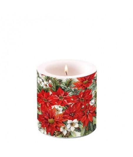 Dekoruota žvakė 8cm...