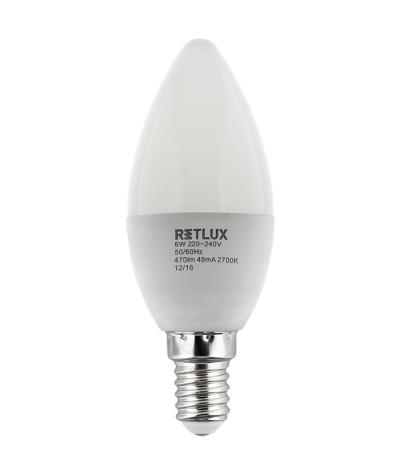 LEMPA LED 6W 2700K RETLUX...