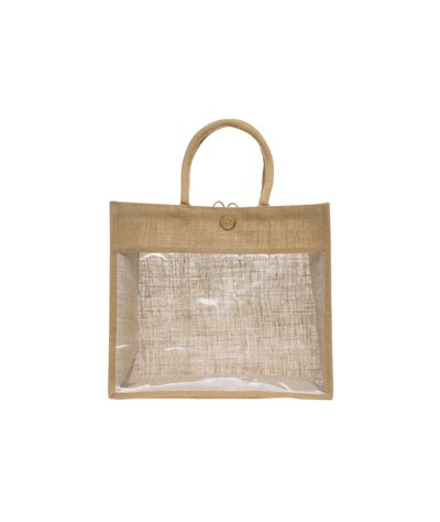 Natūralus džiuto krepšys su...