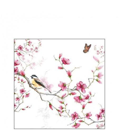 Servetėlės 25cm Bird & Blossom